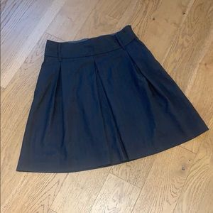 Old Navy Gray Pleated A-Line Skirt